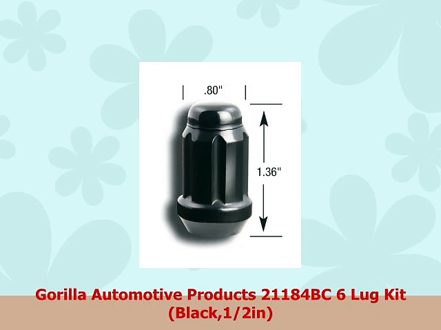 Gorilla Automotive Products 21184BC 6 Lug Kit Black12in