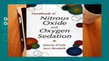 Online Handbook of Nitrous Oxide and Oxygen Sedation  For Free