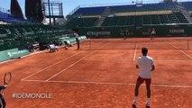 ATP - Rolex Monte-Carlo 2019 - Novak Djokovic s'entraine déjà sur la terre battu de Monte-Carlo
