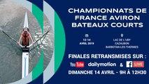 Championnats de France bateaux courts J18 et Senior, Lac de L'Uby, Cazaubon, Dimanche 14 avril 2019