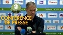 Conférence de presse Clermont Foot - AS Nancy Lorraine (2-3) : Pascal GASTIEN (CF63) - Alain PERRIN (ASNL) - 2018/2019