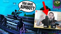 LITTLE KID THINKS COURAGE HAS AIMBOT! BOTH BROTHERS FREAKOUT! | Fortnite Battle Royale