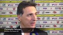 Apres le match Christophe Pélissier - Amiens SC - ASSE