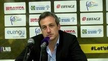 Rémi Giuitta coach de Fos Provence Basket avant le déplacement à Strasbourg