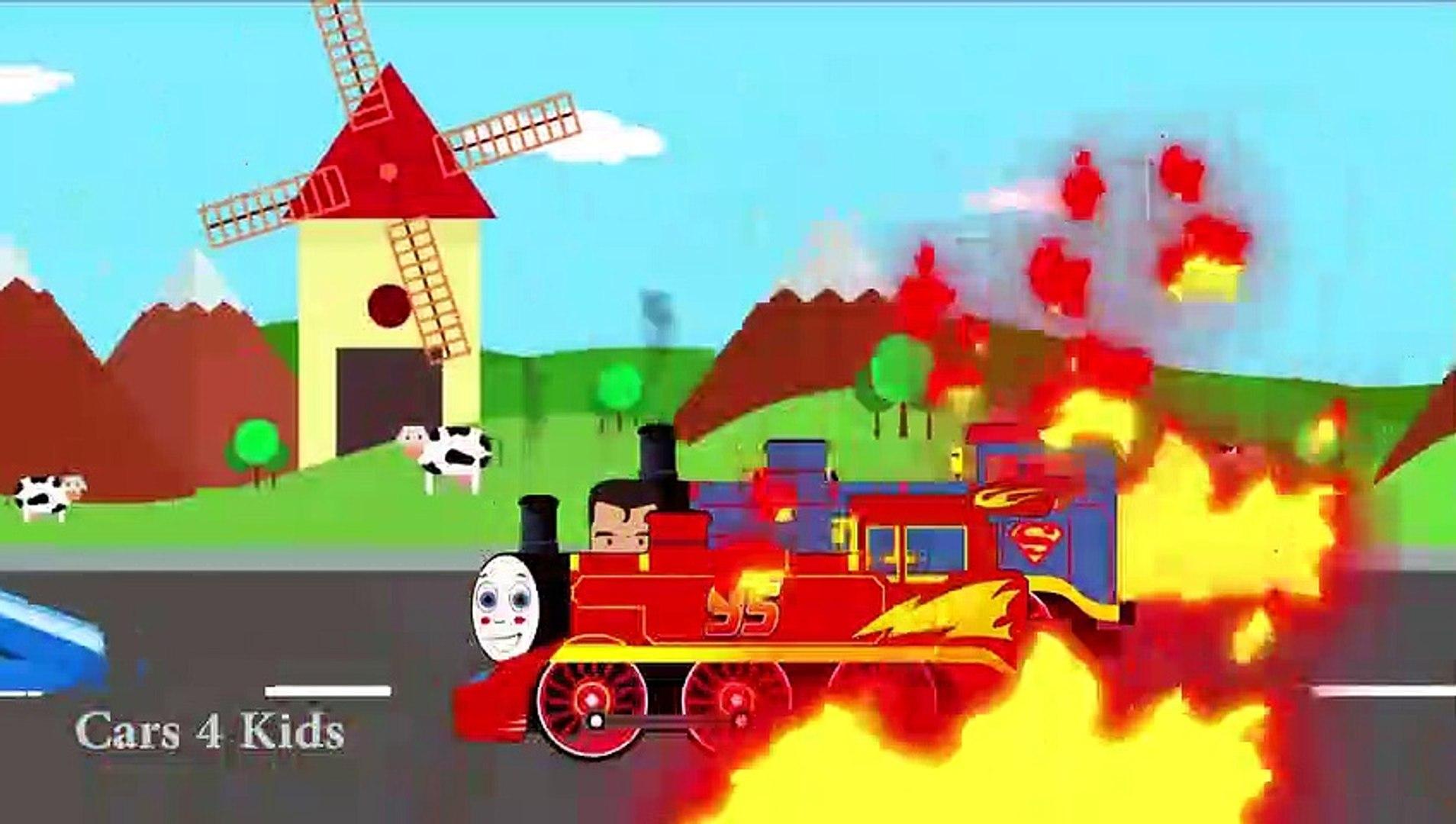 تعلم الألوان والأرقام توماس القطار النقل w ماك شاحنة سيارات الكرتون للأطفال تعلم الفيديو
