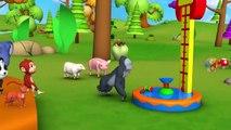 Les animaux de Plaisir de conduite, les Véhicules de Course en Forêt - Drôle de Zoo et les Animaux de la Forêt des Activités pour les Enfants | Peony Noakes