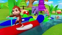 Drôles d'Animaux de la Forêt de la Piscine de Course - Animaux de la Grange à Jouer à des Jeux d'Eau les Animaux de Zoo pour les Enfants | Peony Noakes