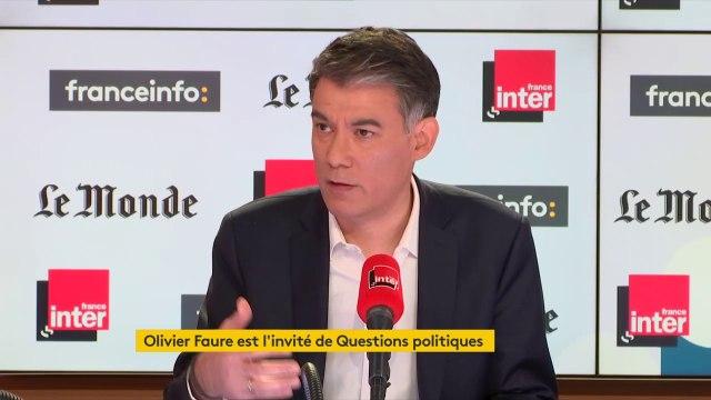 """Olivier Faure : """"Christophe Castaner nous explique que les ONG sont complices des passeurs... quelle honte. S'il y a un réchauffement, ce ne sont pas 300 personnes qui vont arriver, mais un milliard""""."""