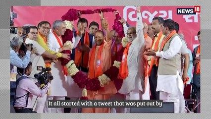 BJP Targets Rahul Gandhi Over  IUML Flags At Wayanad Roadshow