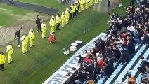 Celta-Real Sociedad: La celebración del Celta con la grada de Balaídos después del partido