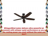 Hunter Fan 52 inch Ceiling Fan in Premier Bronze with 5 Dark Walnut Reversible Blades