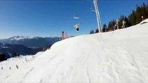 Ski - Candide Thovex hits a skier in La Clusaz snowpark