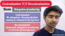 Centralisation VS Decentralisation | Organising | Class 12 Business Studies | Pediaducation