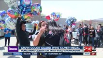Arvin High School color guard team wins silver medal at a world championship