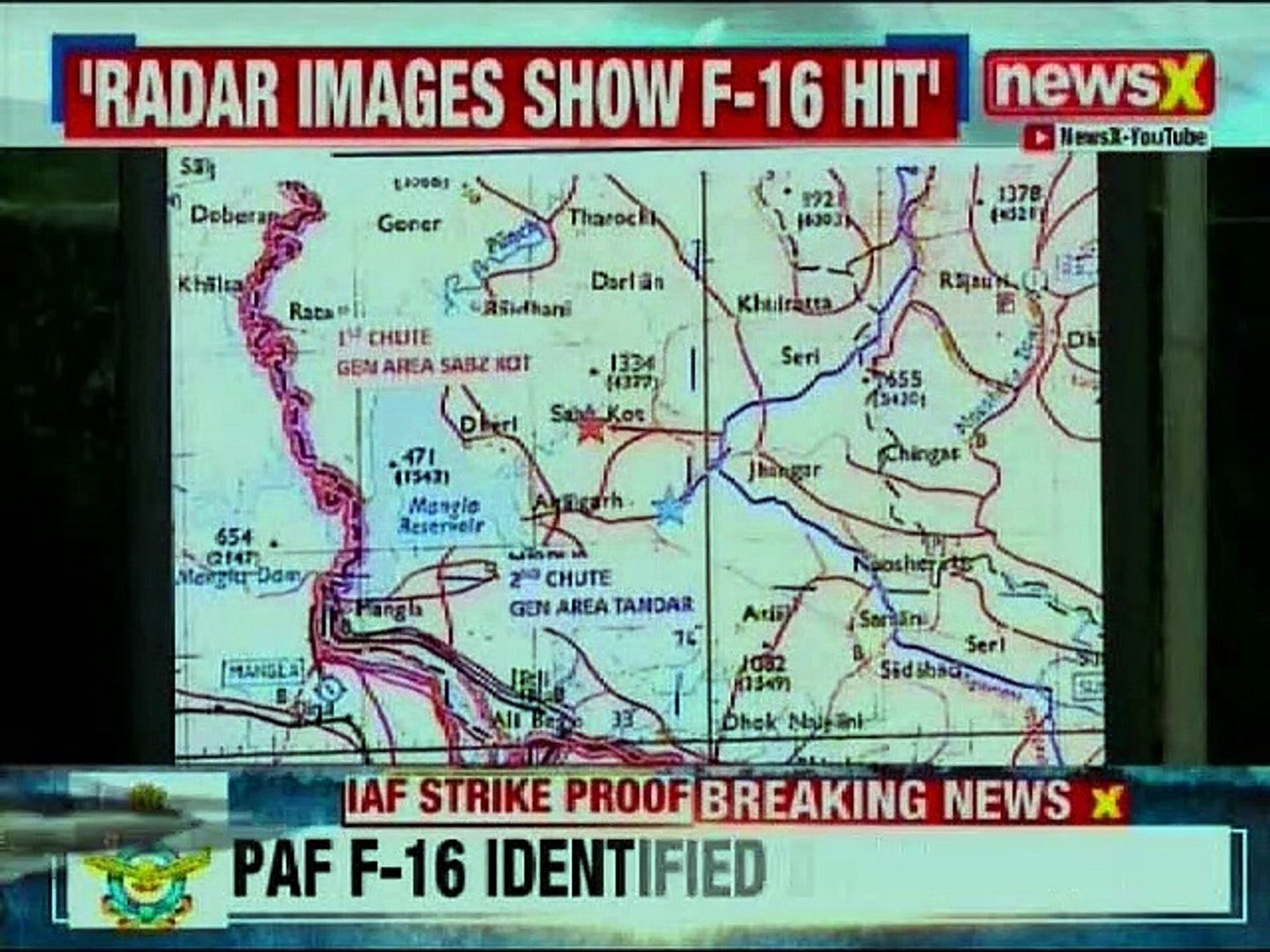 IAF shows Radar images of Pakistan's F-16; Indian Air Force Strike Proof