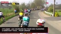 Cyclisme : les coureurs du Tour des Flandres s'arrêtent tous... pour uriner (vidéo)