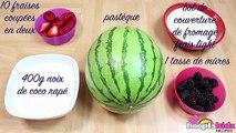 Gateau Recipe: Watermelon Cake in French   Comment Faire Recette: Gâteau à la Pastèque