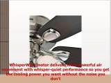 Hunter Fan 52 Casual Ceiling Fan in Brushed Nickel with Dual Glass Light Fixture and