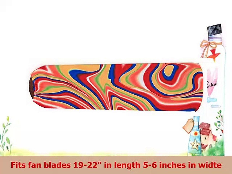 Swirling Rainbow Ceiling Fan Blade Covers