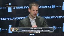 Bruins GM Don Sweeney Praises Squad As They Prepare For Playoff Run
