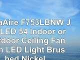 MinkaAire F753LBNW Java LED 54 Indoor or Outdoor Ceiling Fan with LED Light Brushed