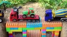 La Construction d'un pont Véhicules jouets pour les enfants Camion de pompiers, Camion à benne pour les enfants