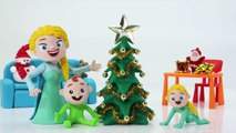 Superheroes Wish You Merry Christmas & Happy New Year - Play Doh Cartoons & Stop Motion Movies