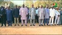 RTB/Le premier Ministre Christophe Dabiré et les élèves du mythique lycée Philippe Kaboré chantent en choeur l'hymme nationale du Burkina à l'occasion des activités commémoratives du centenaires du Burkina Faso