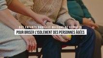 Les personnes âgées de cette maison de retraite retrouvent le sourire grâce à de jeunes enfants