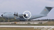 Airbus A400M Atlas - German Air Force 54+23 - touch&go at Manching Air Base [2160p25]