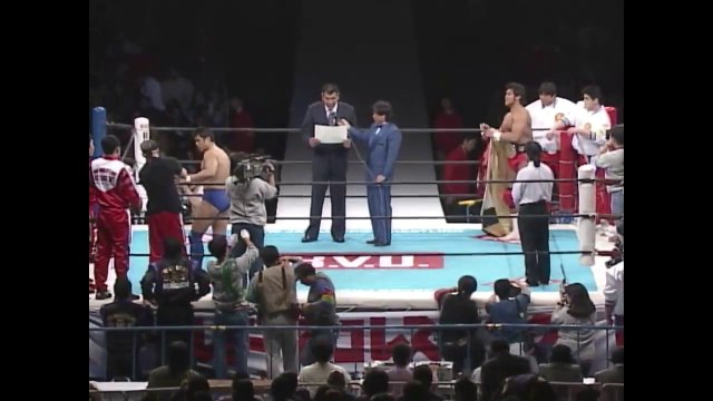 Keiji Muto (C/V6) VS Nobuhiko Takada '96.1.4 [IWGP Heavyweight Championship Match / New Japan Pro-Wrestling VS U.W.F. International] ('96 WRESTLING WORLD in Tokyo Dome)
