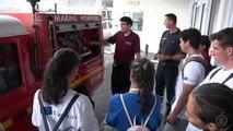 Visites dans le cadre du concours du Centenaire 2019 : Les élèves de l'école de Fautaua Val et le groupe Erasmus du Lycée Saint-Joseph à la base navale