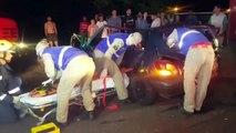Forte colisão traseira entre carros deixa três feridos no Alto Alegre