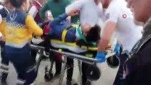 Erzincan'da otomobilin çarptığı motosiklet sürücüsü yaralandı