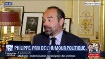 """""""Les emmerdes"""" d'Édouard Philippe lui font gagner le grand prix de l'humour politique"""