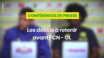 Gabriel Boschilia et Samuel Moutoussamy avant FCN-OL