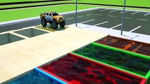 Apprenez les Formes avec des Voitures de Police Devient Monster Trucks