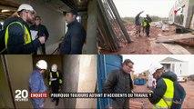 Accidents du travail : 49 ouvriers ont perdu la vie lors d'une chute l'an dernier