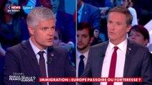 Vif échange entre Laurent Wauquiez et Nicolas Dupont-Aignan sur le pacte de Marrakech