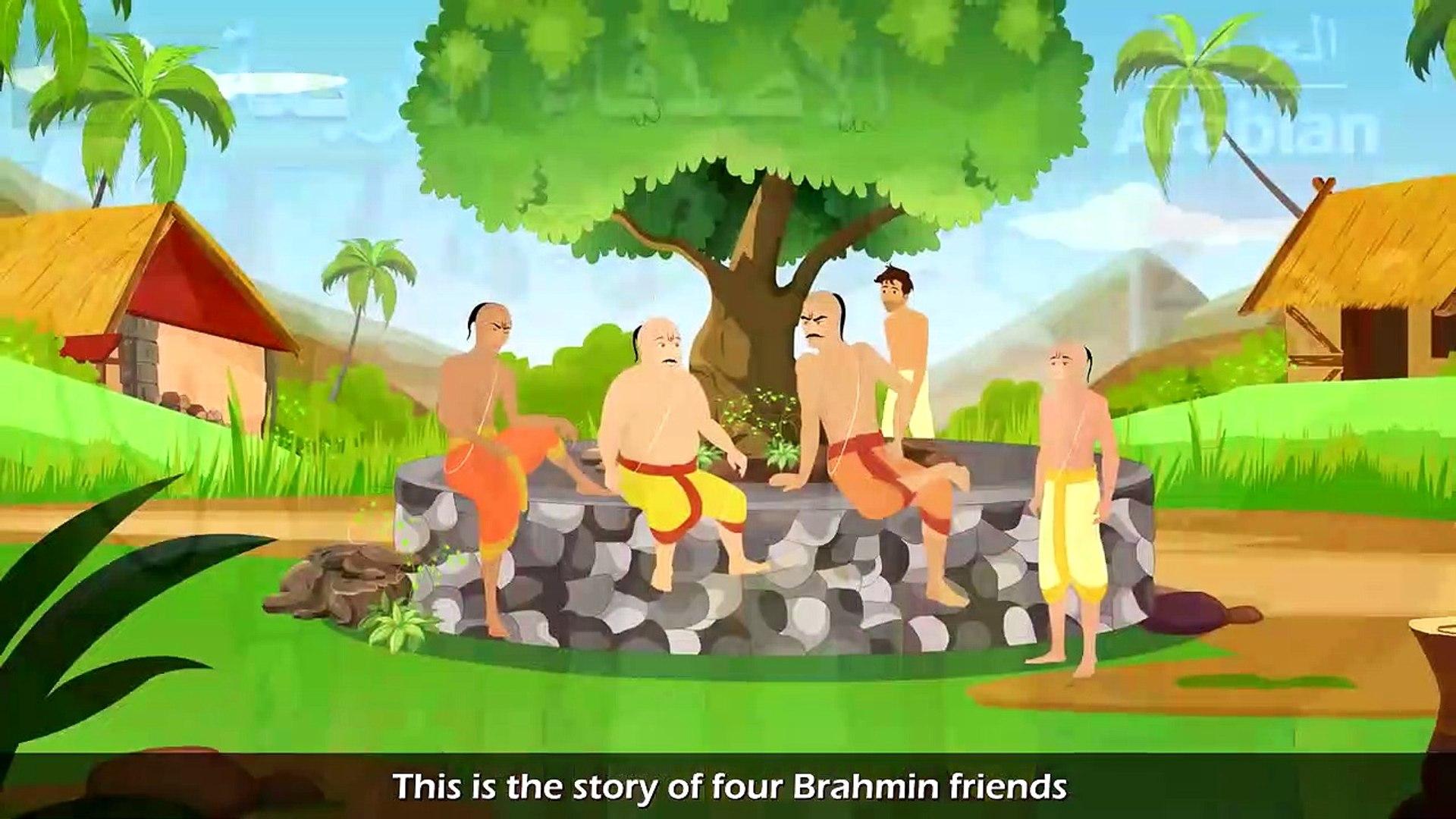 الاصدقاء الاربعة   قصص اطفال   حكايات عربية