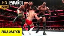 WWE Raw: Finn Bálor vs. Bobby Lashley & Jinder Mahal - Lucha en Desventaja de 1-vs-2 | Español Latino HD