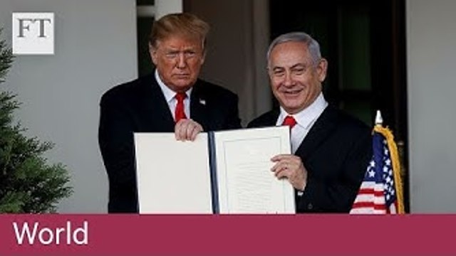 Trump recognises Israel's sovereignty over Golan Heights