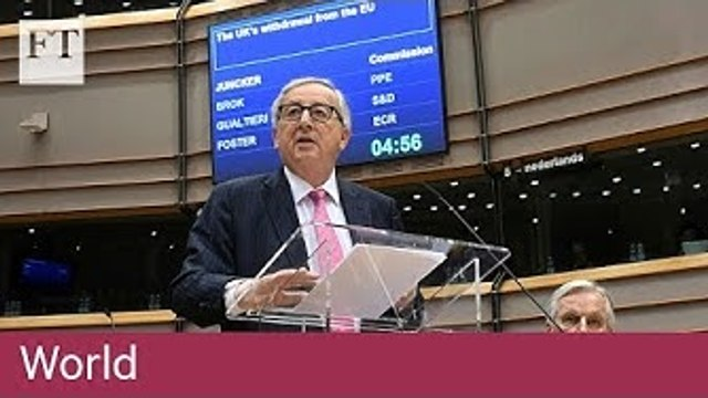 Juncker warns UK parliament to reach Brexit deal by April 12