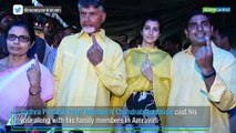 Chandrababu Naidu, Nitin Gadkari and other leaders cast their votes in Phase 1 of Lok Sabha polls, and Assembly elections