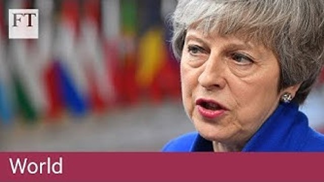 Theresa May arrives in Brussels seeking Brexit delay