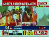 Smriti Irani Vs Rahul Gandhi in Congress Bastion; Smriti Irani's Roadshow in Amethi