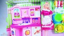 Barbie jeu de cuisine - Toy kitchen poupées barbie - Barbie Doll House - Little Chef de cuisine