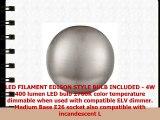 Andante LED Industrial Ceiling Light Fixture  Brushed Nickel  Linea di Liara