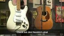 Guitars of the greats rock halls of New York's Met museum