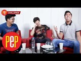 Jason Abalos, Ivan Dorschner, Migo Adecer | Singing Chubby Bunny | PEP Challenge